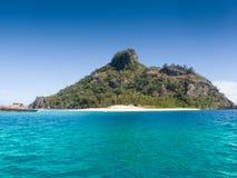 Fijian island. The iconic Fijian island of Monoriki - set of the Tom Hanks movie Castaway Stock Images
