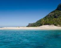 Fijian island. The iconic Fijian island of Monoriki - set of the Tom Hanks movie Castaway Royalty Free Stock Photo
