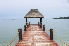 Fijian Jetty Royalty Free Stock Photography