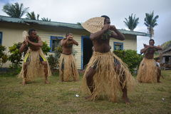 Fijian native dancers Stock Photography