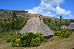 Fijian native house Royalty Free Stock Image