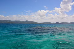 Fijian sea. A sea view near one of the Fijian islands Stock Photography