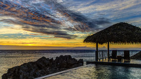 Fijian Sunset Stock Photography