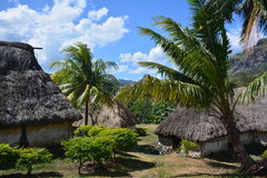 Fijian traditionally built houses Royalty Free Stock Photography