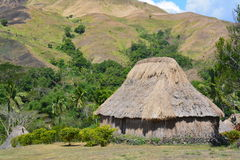 Fijian traditionally built houses Royalty Free Stock Images