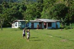 Fijian village life Stock Photo
