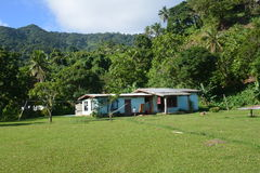 Fijian village life Royalty Free Stock Image