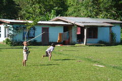 Fijian village life Royalty Free Stock Photography