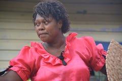 A Fijian woman  dancer Stock Photo