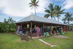 Fijianbymarknad fotografering för bildbyråer