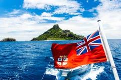 Fijiansk flagga royaltyfri bild