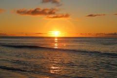 Fijiansk strand Arkivbild