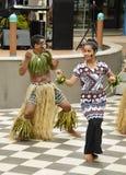 Fijianska dansare royaltyfri fotografi