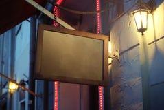 Fijn beeld van restaurant blackboad stock foto's