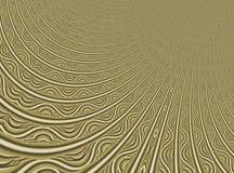 Fijn gouden modern abstract fractal art. Achtergrondillustratie met een vervormd gedetailleerd patroon die filigraan resembing Cr Stock Fotografie