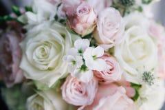 Fijn kunst bruids boeket in natuurlijk licht Stock Fotografie