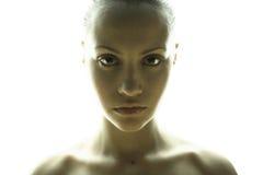 Fijn kunstportret van elegant meisje Royalty-vrije Stock Foto's