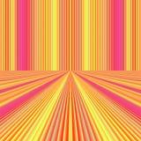Fijn roze oranje perspectief royalty-vrije illustratie
