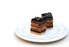 Fijne chocoladecakes Royalty-vrije Stock Afbeelding