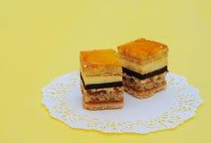 Fijne fruitcakes Stock Foto's