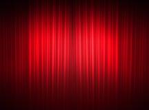 Fijne gordijnen van een theater Stock Afbeelding