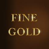 Fijne gouden tekst Stock Illustratie
