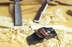 Fijne houten hulpmiddelen Stock Afbeeldingen