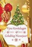 Fijne Kerstdagen Engelse Gelukkig Nieuwjaar! Royalty-vrije Stock Afbeelding