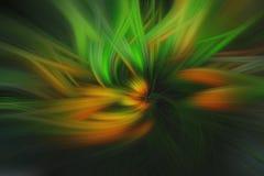Fijne kunst abstracte achtergrond Groen en geel stock illustratie
