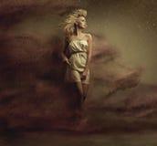Fijne kunstfoto van een verleidelijke blondeschoonheid Stock Foto