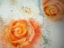 Fijne kunstillustratie - de rozen van de Steen Stock Fotografie