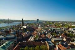Fijne mening van de stad van Riga Royalty-vrije Stock Fotografie