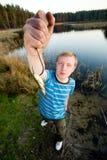 Fijne vangst van vissen Stock Afbeeldingen