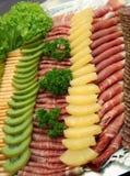 Fijne vleeswaren stock foto's