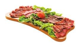 Fijne vleeswaren op plateau Royalty-vrije Stock Foto