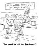 Fijne Wijn royalty-vrije illustratie