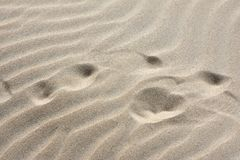 Fijne zand en windtekeningen stock fotografie