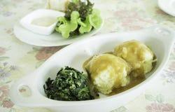 Fijngestampte aardappel royalty-vrije stock foto's