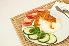 Fijngestampte aardappels Stock Foto's