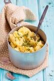 Fijngestampte aardappels Royalty-vrije Stock Foto's