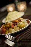 Fijngestampte Aardappels & Gemengde Groenten Stock Afbeeldingen