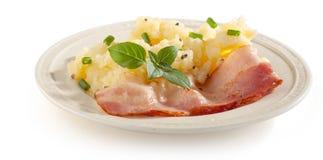 Fijngestampte Aardappels met bacon royalty-vrije stock fotografie