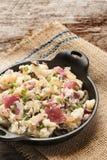 Fijngestampte rode aardappels Stock Foto