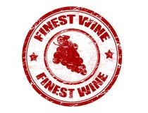 Fijnste wijnzegel Royalty-vrije Stock Foto
