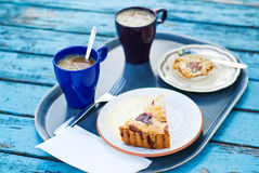 Fika- Swedish coffee break. Fika, Swedish coffee break after breakfast Royalty Free Stock Photos