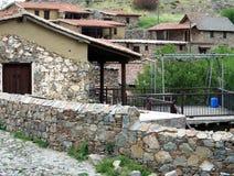 Fikardou Dorf Lizenzfreies Stockfoto