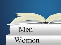 Fiktion och dam för kvinna för kvinnabokhjälpmedel royaltyfri illustrationer