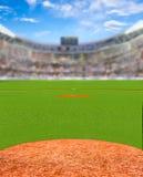 Fiktiv baseballstadion med kopieringsutrymme Royaltyfri Bild