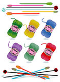 filé en verre d'écheveaux de pointeaux de tricotage Photographie stock libre de droits