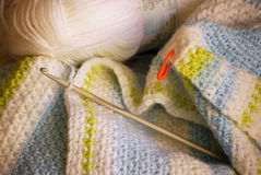 Filé et crochet de crochet photo stock